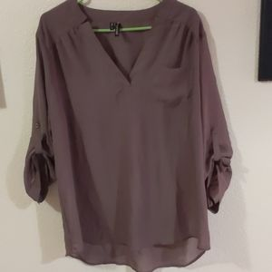 Maurices 1x plum blouse